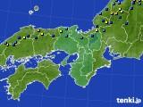 2017年02月02日の近畿地方のアメダス(積雪深)
