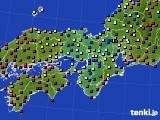 2017年02月02日の近畿地方のアメダス(日照時間)