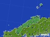 島根県のアメダス実況(風向・風速)(2017年02月02日)