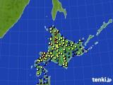 2017年02月03日の北海道地方のアメダス(積雪深)