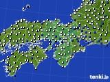 近畿地方のアメダス実況(風向・風速)(2017年02月03日)