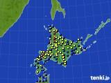 2017年02月04日の北海道地方のアメダス(積雪深)