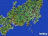 関東・甲信地方のアメダス実況(日照時間)(2017年02月06日)