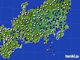 関東・甲信地方のアメダス実況(風向・風速)(2017年02月06日)