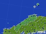 島根県のアメダス実況(風向・風速)(2017年02月06日)