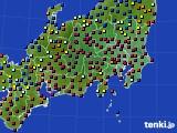 関東・甲信地方のアメダス実況(日照時間)(2017年02月08日)