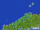 2017年02月08日の島根県のアメダス(日照時間)