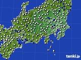 関東・甲信地方のアメダス実況(風向・風速)(2017年02月08日)