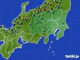関東・甲信地方のアメダス実況(積雪深)(2017年02月10日)