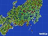 関東・甲信地方のアメダス実況(日照時間)(2017年02月10日)