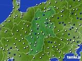 長野県のアメダス実況(風向・風速)(2017年02月10日)