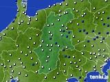 長野県のアメダス実況(風向・風速)(2017年02月11日)