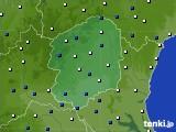 栃木県のアメダス実況(風向・風速)(2017年02月12日)