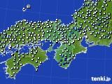 近畿地方のアメダス実況(降水量)(2017年02月20日)