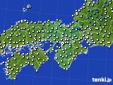 近畿地方のアメダス実況(気温)(2017年02月20日)
