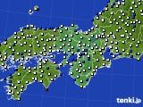 近畿地方のアメダス実況(風向・風速)(2017年02月20日)