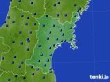 2017年02月21日の宮城県のアメダス(気温)