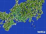 東海地方のアメダス実況(風向・風速)(2017年02月21日)