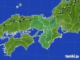 近畿地方のアメダス実況(積雪深)(2017年03月01日)
