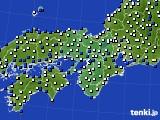 近畿地方のアメダス実況(風向・風速)(2017年03月09日)