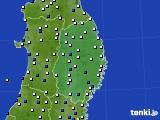 2017年03月10日の岩手県のアメダス(風向・風速)