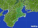 2017年03月18日の三重県のアメダス(風向・風速)