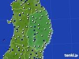 2017年03月20日の岩手県のアメダス(風向・風速)