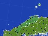 島根県のアメダス実況(風向・風速)(2017年03月30日)