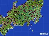 2017年04月02日の関東・甲信地方のアメダス(日照時間)