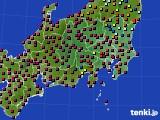 2017年04月04日の関東・甲信地方のアメダス(日照時間)