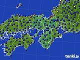 2017年04月08日の近畿地方のアメダス(日照時間)