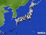 2017年04月10日のアメダス(風向・風速)