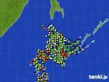北海道地方のアメダス実況(日照時間)(2017年04月12日)