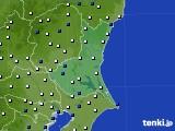 茨城県のアメダス実況(風向・風速)(2017年04月16日)