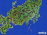 2017年04月18日の関東・甲信地方のアメダス(日照時間)