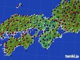 2017年04月18日の近畿地方のアメダス(日照時間)