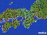 2017年04月19日の近畿地方のアメダス(日照時間)