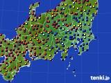 2017年04月22日の関東・甲信地方のアメダス(日照時間)