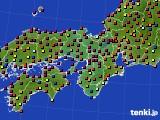 2017年04月22日の近畿地方のアメダス(日照時間)