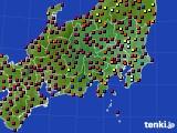 2017年04月23日の関東・甲信地方のアメダス(日照時間)
