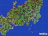 2017年04月24日の関東・甲信地方のアメダス(日照時間)