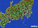 2017年04月25日の関東・甲信地方のアメダス(日照時間)