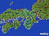 2017年04月25日の近畿地方のアメダス(日照時間)