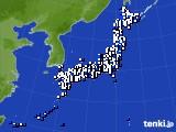 2017年04月25日のアメダス(風向・風速)