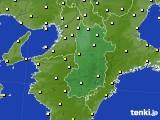 2017年04月29日の奈良県のアメダス(気温)