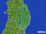 2017年04月30日の岩手県のアメダス(風向・風速)