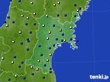 宮城県のアメダス実況(風向・風速)(2017年05月08日)