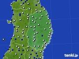 2017年05月11日の岩手県のアメダス(風向・風速)