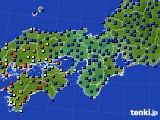 2017年05月13日の近畿地方のアメダス(日照時間)