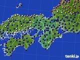 2017年05月16日の近畿地方のアメダス(日照時間)